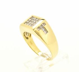 11003664 14K Yellow Gold Men's Diamond Ring