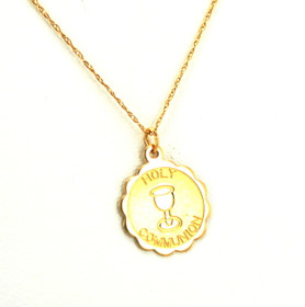 50001816 14K Yellow Gold Holy Communion Charm