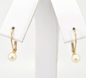 14K Yellow Gold Pearl Earrings 42002152