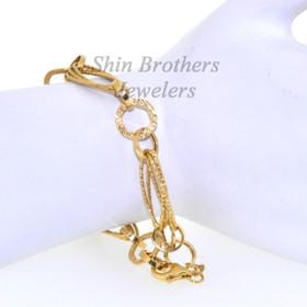 14K Yellow Gold Fancy Link Bracelet 20001218