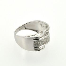 10K White Gold Diamond Men's Ring 19000164