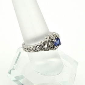 10K White Gold Diamond & Tanzanite Ring 19000166