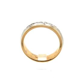 14K Two Tone Gold 0.48ctw Diamond Wedding Band 11000839