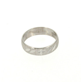 10K White Gold Size 10 Wedding Band 19000186