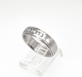 14K White Gold 0.25ctw Diamond Men's Wedding Band 11001614