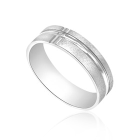 14K White Gold Wedding Band 10000779