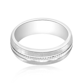 14K White Gold Wedding Band 10000792