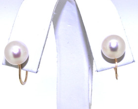 14K Yellow Gold Pearl Non-Pierce Earrings 42002210