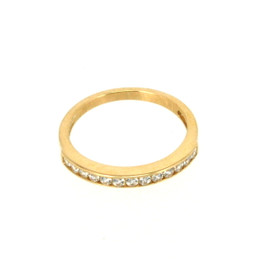 14K Yellow Gold CZ Band 12002075