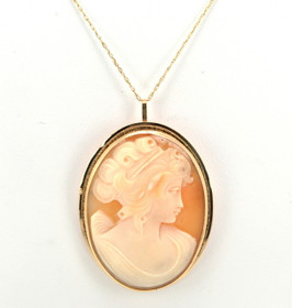14K Yellow Gold Cameo Pendant/Pin 52001447
