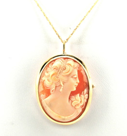 10K Yellow Gold Cameo Pendant/Pin 59000157