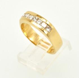 14K Yellow Gold Mens Diamond Wedding Band 11003676