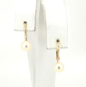 14K Yellow Gold Pearl/Diamond Earrings 42001992