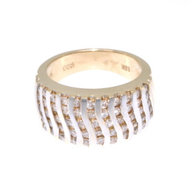 14K Two Tone Gold Diamond Wedding Band 11003750
