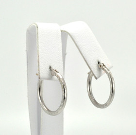 10K White Gold D/C Hoop Earrings 49000063