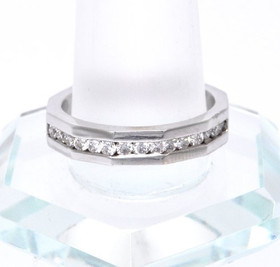14K White Gold Diamond Wedding Band 11001761