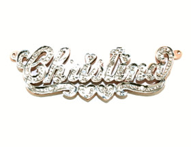 "14K Two Tone Gold ""Christina"" Diamond Name Plate 33300139"