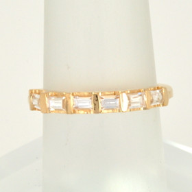 14K Yellow Gold Baguette CZ Ring 12000771