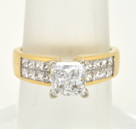 18K Yellow Gold Diamond Setting With CZ 11002022