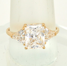 14K Yellow Gold CZ Ring 12001685