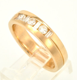 14K Yellow Gold 0.50ctw Men's Diamond Band 11002822