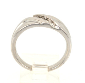 10K White Gold Men's 0.25ct. Diamond Band 19000052