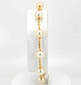 "14K Yellow Gold 7.5"" Pearl Bracelet 22000543"