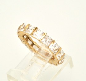 14K Yellow Gold CZ Ring 12000101