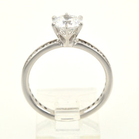14K White Gold CZ Ring 12001372