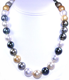 "14K Gold Graduated South Sea Pearl 19"" Necklace 32000375"