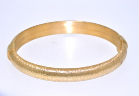 """Gold Plated Sterling Silver 8"""" Bangle 82010371"""
