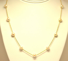 14K Yellow Gold Pearl Necklace 944.00
