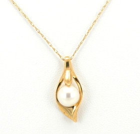 14K Yellow Gold Pearl Fancy Charm 52001049