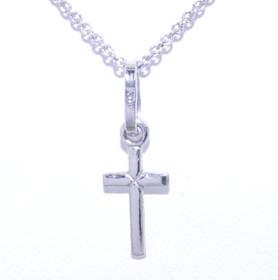14K White Gold Small Cross Charm 50000957