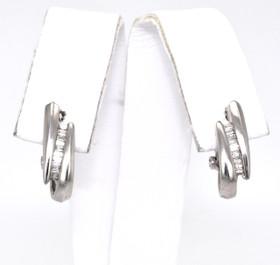 14K White Gold Pearl Omega Back Earrings 41000628