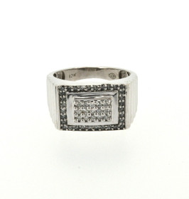 10K White Gold 0.50ctw Diamond Men's Ring 19000173