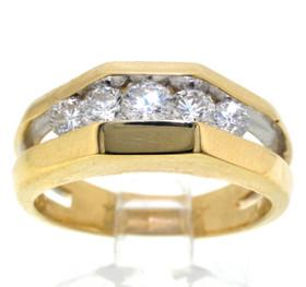 14K Yellow Gold 0.89ctw Diamond Band 11003153