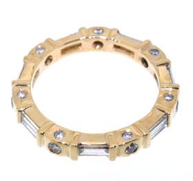 14K Yellow Gold 1.06ctw Diamond Band 11000204