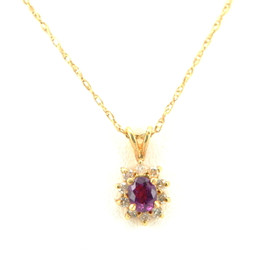 14K Yellow Gold Ruby and Diamond Charm 52000253