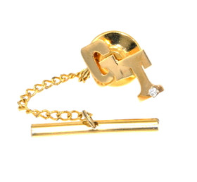 "14K Yellow Gold Diamond ""GT"" Initial Tie Tack 70000081"