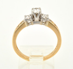 14K Yellow Gold 0.50ctw Round Diamond Engagement Ring