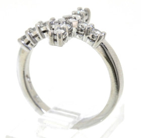 14K White Gold 0.55 CTW Diamond Cross Ring 11003768