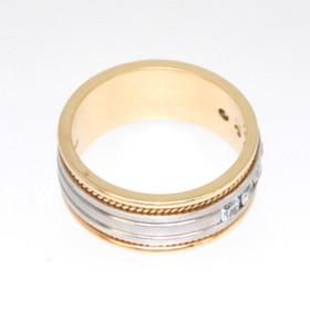 14K Two Tone Gold 0.46 CTW Diamond Wedding Band 11002179