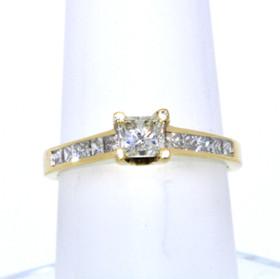 18K Yellow Gold Diamond Engagement Ring 11001327