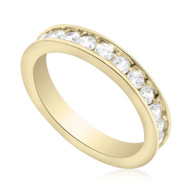 14K Yellow Gold CZ Eternity Wedding Band 12001184