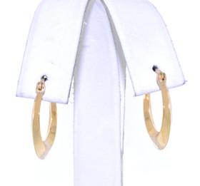 10K Yellow Gold Hoop Earrings 49000107