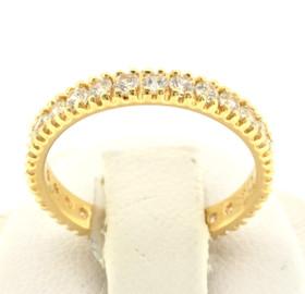 14K Yellow Gold CZ Eternity Wedding Band 12002227