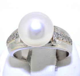 14K White Gold Pearl/Diamond Ring 12002246
