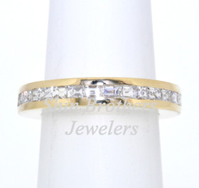 14K Yellow Gold Diamond Eternity Wedding Band 11001493