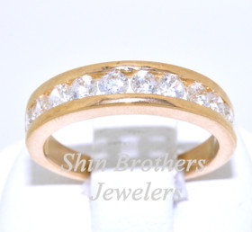 22K Yellow Gold CZ Diamond Ring 12001652